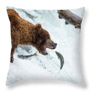 Get In My Belly Throw Pillow