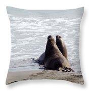 Get Off My Beach Throw Pillow