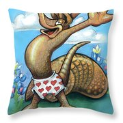 Get Out Of Your Shell...stop And Smell The Bluebonnets Throw Pillow