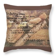 Get Perspective Quote Throw Pillow
