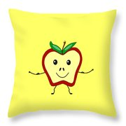 Get Physical Apple - Health Throw Pillow