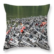 Get Ready To Ride Throw Pillow