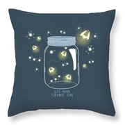 Get Your Shine On Throw Pillow