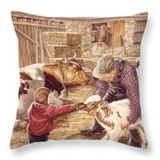 Getting Acquainted Throw Pillow