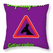 Getting Bigstock Donkey 171252860 Throw Pillow