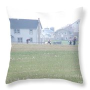 Getting Ready For A Volleyball Game  Throw Pillow