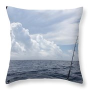 Getting Ready To Fish Throw Pillow