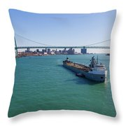 Getting The Mail Throw Pillow