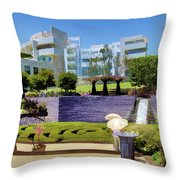 Getty Gardens Throw Pillow