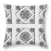Getty Villa Coffered Peristyle Ceiling Throw Pillow