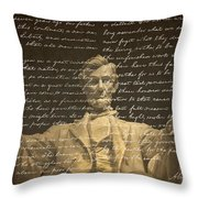 Gettysburg Address Throw Pillow