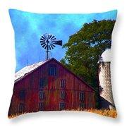 Gettysburg Barn Throw Pillow