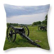 Gettysburg Battlefield Cannons Throw Pillow