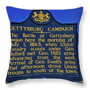 Gettysburg Campaign Throw Pillow