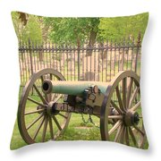 Gettysburg Cannon Cemetery Hill Throw Pillow