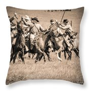 Gettysburg Cavalry Battle 7948s  Throw Pillow