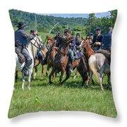 Gettysburg Cavalry Battle 7970c  Throw Pillow