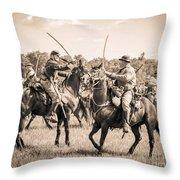 Gettysburg Cavalry Battle 7978s  Throw Pillow