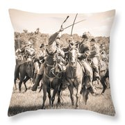 Gettysburg Cavalry Battle 7992s  Throw Pillow