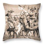 Gettysburg Cavalry Battle 8021s  Throw Pillow