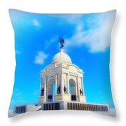 Gettysburg Memorial In Winter Throw Pillow