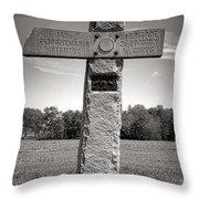Gettysburg National Park 142nd Pennsylvania Infantry Monument Throw Pillow