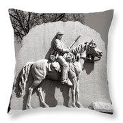 Gettysburg National Park 17th Pennsylvania Cavalry Monument Throw Pillow