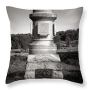 Gettysburg National Park 30th Pennsylvania Infantry Monument Throw Pillow