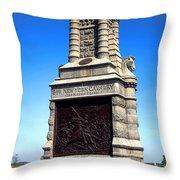 Gettysburg National Park 6th New York Cavalry Memorial Throw Pillow