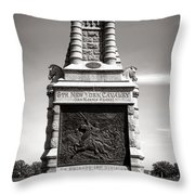 Gettysburg National Park 6th New York Cavalry Monument Throw Pillow