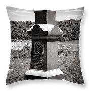 Gettysburg National Park 6th Wisconsin Iron Brigade Monument Throw Pillow