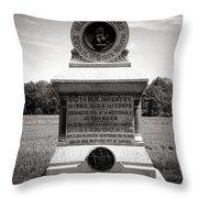 Gettysburg National Park 80th New York Infantry Militia Monument Throw Pillow