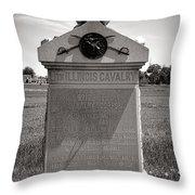 Gettysburg National Park 8th Illinois Cavalry Monument Throw Pillow