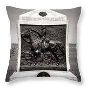 Gettysburg National Park 9th New York Cavalry Monument Throw Pillow
