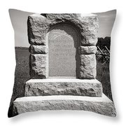Gettysburg National Park Third West Virginia Cavalry Monument Throw Pillow