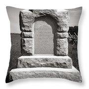 Gettysburg National Park Third West Virginia Cavalry Monument Throw Pillow