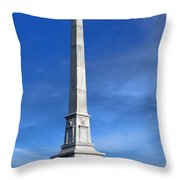 Gettysburg National Park United States Army Regulars Memorial Throw Pillow