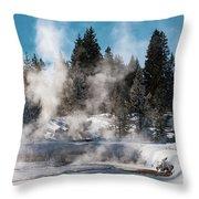 Geyser Trail Throw Pillow
