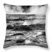 Geysers Of Yellowstone Throw Pillow