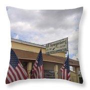 G.f. Spangenberg Gun Shop Tombstone Arizona 2004 Throw Pillow