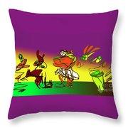 Ghana Drum  Purple Throw Pillow