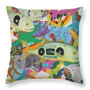 Ghettoblasters Throw Pillow