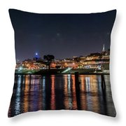 Ghirardelli Square At Night Throw Pillow
