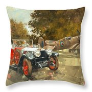 Ghost And Spitfire  Throw Pillow