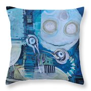 Ghost Birds At Play Throw Pillow