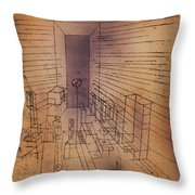 Ghost Chamber With The Tall Door New Version Throw Pillow