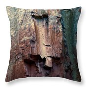 Ghost Cliff Abstract Throw Pillow