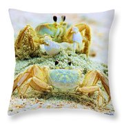 Ghost Crabs Throw Pillow