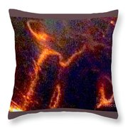 Ghost Figures 3 Abstract Throw Pillow