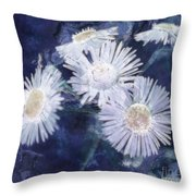 Ghost Flowers Throw Pillow